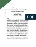 Baum Introduction to Molar Behavior