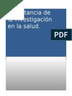 Trabajo Salud e Investigacion