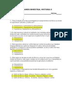 Examen Bimestral Historia II