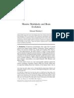 Massive Modularity and Brain Evolution