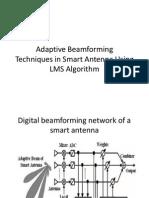 Adaptive Beamforming LMS Algorithm