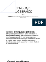 LENGUAJE ALGEBRAICO