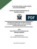 Influencia Del Vertido Del Efluente Líquido de La Compañía Minera Aurex s.a. en El Ecosistema Acuático Del Rio San Juan