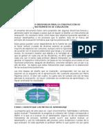 Documento Orientador Para La Construcción de Instrumentos de Evaluación