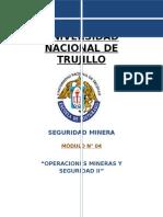 Modulo 04 Operaciones Mineras y Seguridad II
