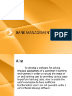 Synopsis Report for Bank Managment Services