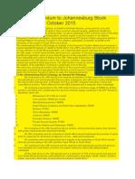 EFF Memorandum to Johannesburg Stock Exchange 27 October 2015