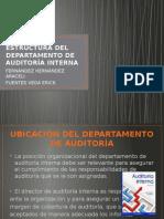 Estructura Del Departamento de Auditoría Interna