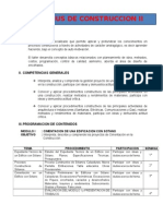 Syllabus de Construccion II - 2015 - II