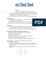 photo cheat sheet- mikayla olesen