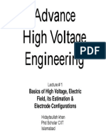 Lecture 1HV - Basics of High Voltage Engineering,