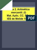 Tema 2. Aritmética mercantil