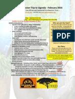 CEED Feb-2016 Mission Trip to Uganda2