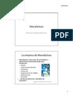 Tema 1 - La Empresa de La Manufactura