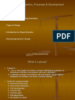 Group Dynamics Processes and Development