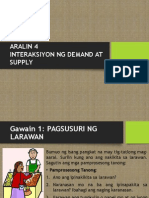 Aralin 4 - Interaksiyon Ng Demand at Supply