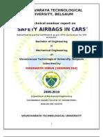 Airbag in Automobile Seminar Report pdf