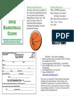 Fall 2015 Basketball Clinic