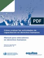 Como evaluar las actividades de capacitación en Derechos Humanos