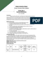 B.com.Part-I Busincess Mathemtics June 2013