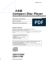Owners manual cdx f7705x