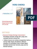 PRINSIP DASAR Konversi Energi