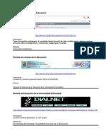 Revistas Educacion investigacion