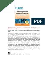 Développement durable et gouvernement d-entreprise_un dialogue prometteur