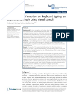 The Influence of Emotion on Keyboard