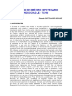 El Título de Crédito Hipotecario Negociable. Rolando Castellares Aguilar