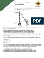 6ª LISTA TOP - Pressão de Vapor e Propriedades Coligativas