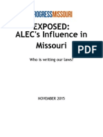 Exposed ALEC's Influence in Missouri 2015 Updated