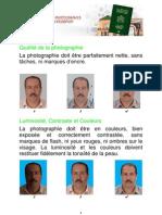Normes pour les Photographies d'Identité du Passeport