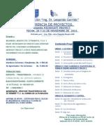 Aviso Gerencia Proyectos. 20 y 21 de Noviembre 2015