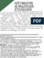 14-Cockroft-walton Voltage Multiplier Circuit