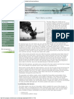 Year One - Case Studies, Piper Alpha Accident, Centre of Risk for Health Car