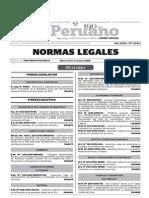 Normas Legales, martes 27 de octubre del 2015