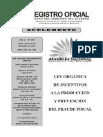 Ley Orgánica de Incentivos a La Producción y Prevención Del Fraude Fiscal