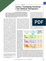 Genomics Into Rational Therapeutics