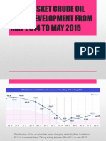 Opec Basket Crude Oil Price Development From May