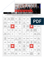 Newsweek Republican Presidential Debate Bingo