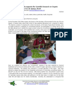 Rede Verde supports the Scientific Research on Organic Farming in Foz do Iguaçu, Brazil (English)
