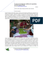 Rede Verde supports the Scientific Research on Organic Farming in Foz do Iguaçu, Brazil (Spanish)