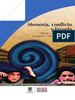 Memoria Conflicto y Escuela