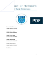 The Effect of Quantitative Easing on Irish Businesses