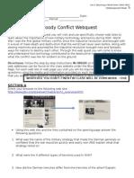 u3d5 - bloody conflict assignment - webquest