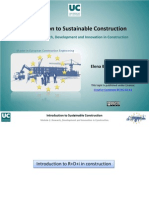 Research, Development and Innovation in Construction. Francisco Javier Cervigon Ruckauer