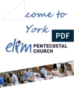 York Elim Pentecostal Church Welcome Brochure