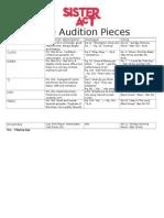 Male Audition Pieces