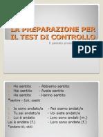 La Preparazione Per Il Test Di Controllo